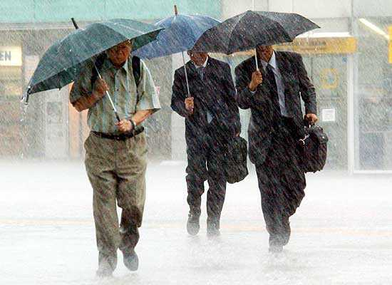 L'Arpacal prevede pioggia per il week end