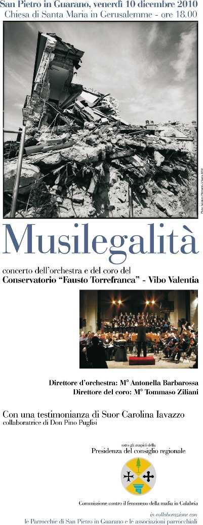 Musilegalità: venerdi 10 dicembre concerto di Natale