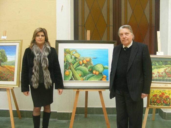 Arte, il presidente della provincia di Reggio incontra la pittrice Perina