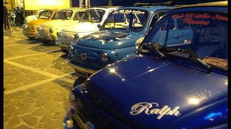 A Cardeto celebrazioni per la Fiat 500 Sfilata molto apprezzata nel reggino