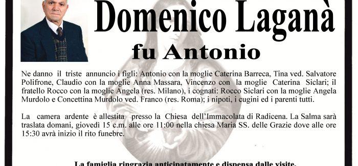 Taurianova, si è spento Domenico Laganà I funerali si terranno domani alle 15.30