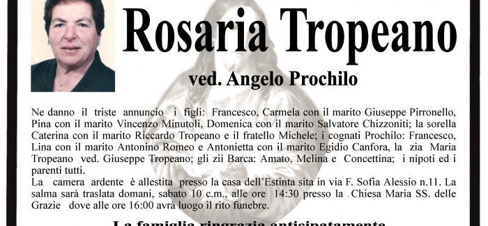 Taurianova, si è spenta Rosaria Tropeano I funerali si svolgeranno domani alle 14.30