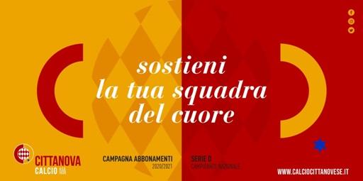 """Asd Cittanovese, aperta la campagna abbonamenti 2020/2021 """"Il sogno parte dal tuo sostegno"""""""