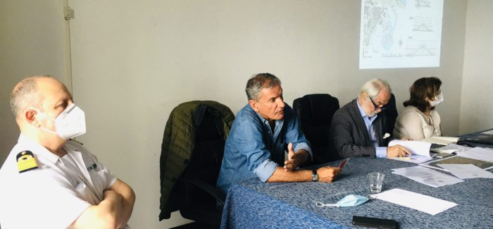 Piano regolatore portuale dello scalo di Crotone, alla riunione presente anche il commissario Andrea Agostinelli