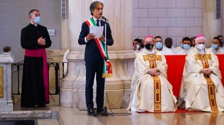 Discorso del sindaco Giuseppe Falcomatà in occasione dell'offerta del cero votivo Da parte dell'Amministrazione comunale a Maria S.S. della Consolazione