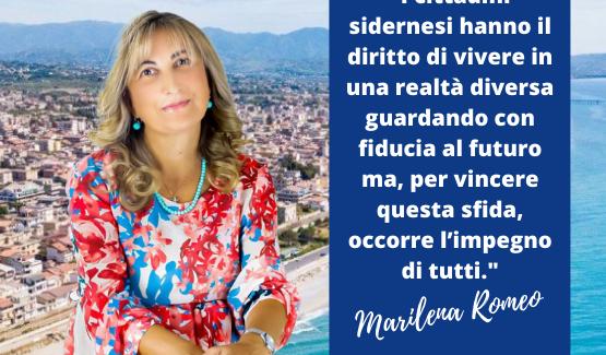 """Marilena Romeo a sostegno di Domenico Barranca:  """"Non possiamo perdere l'opportunità di ridare dignità a Siderno"""""""